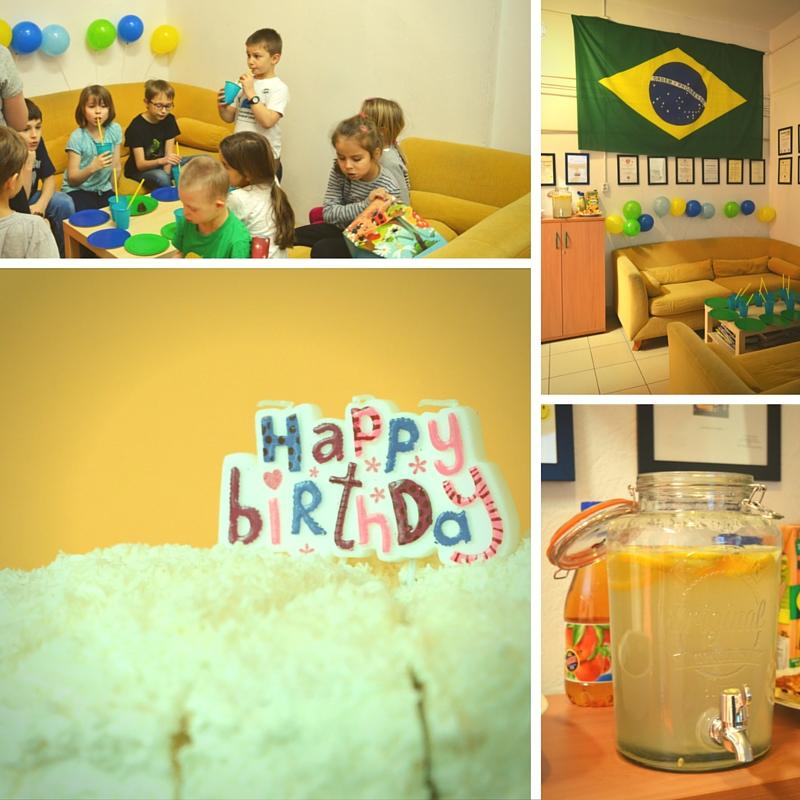 Poczęstunek podczas urodzin